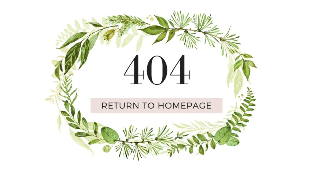 Natural Beauty 404 Page