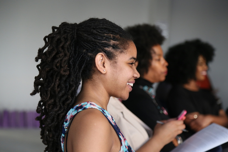 Dominique Reese, owner of Reese Financial Services at Natural Hair Affair