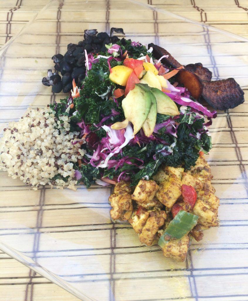 vegan myths kale salad quinoa